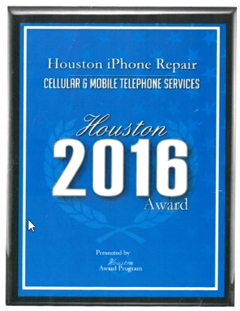 2016 Houston best iphone repair store Award