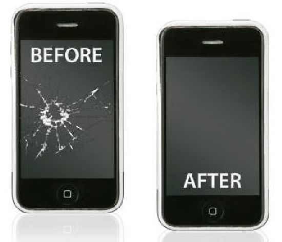 reparation telephone smartphone apple iphone 3g 3gs vitre cassé brisé fissure, ecran tactile casse
