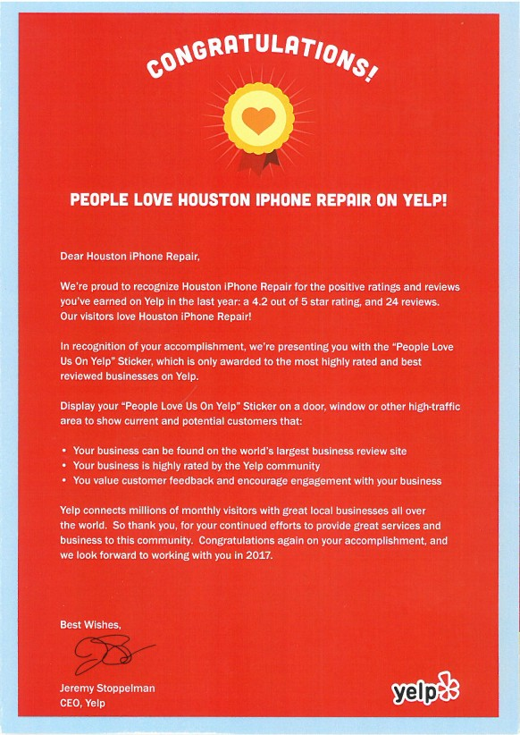 iphone repair yelp good rank